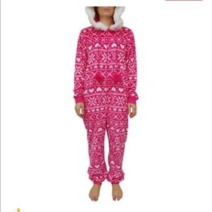 Faded Glory adult pink onesie. Small